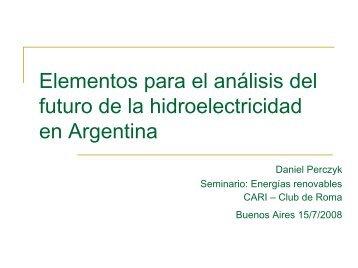 Elementos para el análisis del futuro de la hidroelectricidad en Argentina