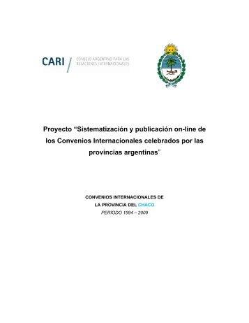Proyecto - Consejo Argentino para las Relaciones Internacionales ...