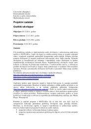 Projektni zadatak Grafički ekvilajzer - Laboratorija za digitalnu ...
