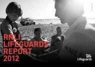RNLI LIFEGUARDS REPORT 2012