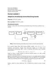 Adaptivna ekvalizacija komunikacionog kanala - Laboratorija za ...
