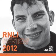 THE RNLI IS THE CHARITY THAT SAVES LIVES AT SEA