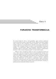 Glava 6 FURIJEOVA TRANSFORMACIJA