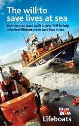 The will to save lives at sea