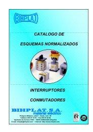 Catálogo de esquemas eléctricos - BIHPLAT Material Eléctrico