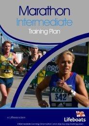 Marathon Intermediate Training Plan - RNLI