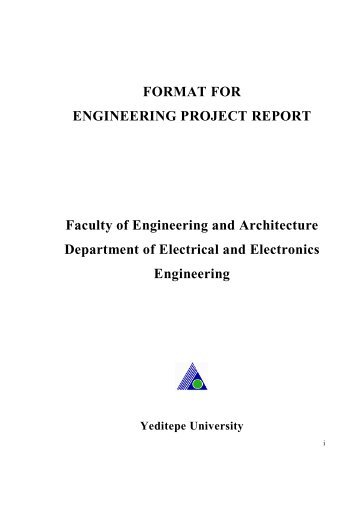 FORMAT FOR ENGINEERING PROJECT REPORT Faculty Of .