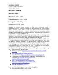 Projektni zadatak iz predmeta Multimedijalni sistemi