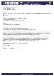 Whiteboard Activity Lesson KS2 + 3 Grace Darling Literacy