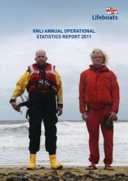 RNLI ANNUAL OPERATIONAL STATISTICS REPORT 2011