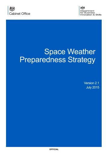 Space Weather Preparedness Strategy