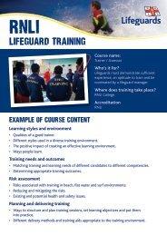 lifeguard training - RNLI