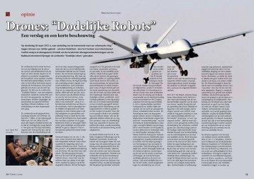 """Drones """"Dodelijke Ro bots"""""""