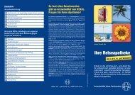 HEXAL-Reiseapotheke Patienteninfo - Hexal AG