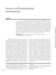 Seizures and Encephalopathy - University of Kentucky