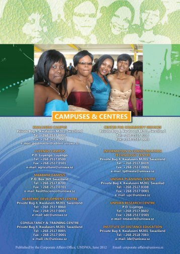 CAMPUSES & CENTRES