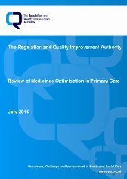 RQIA Medicines Optimisation in Primary Care Review July 2015