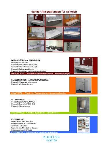 Sanitär-Ausstattungen für Schulen - Gabler  Bauspezialartikel