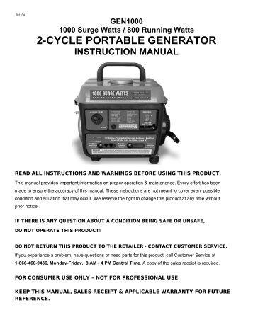champion 7200 9000 generator owners manual