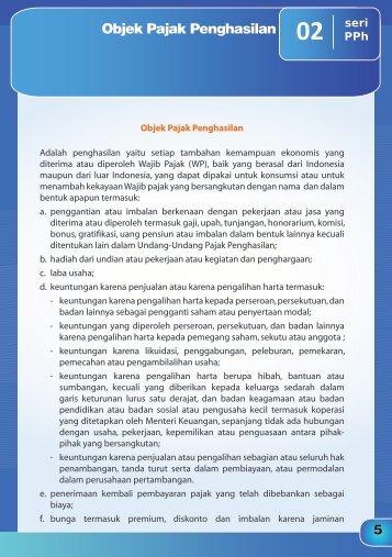 Obyek Pajak Penghasilan - Catatan Perpajakan Indonesia