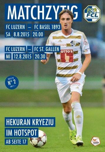 FC LUZERN Matchzytig N°2 15/16 (RSL 4/5)