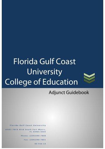 Adjunct Handbook - College of Education - Florida Gulf Coast ...