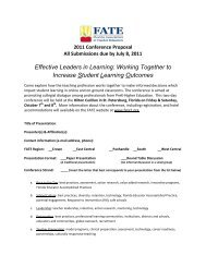 Working Together to Increase Student Learning Outcomes