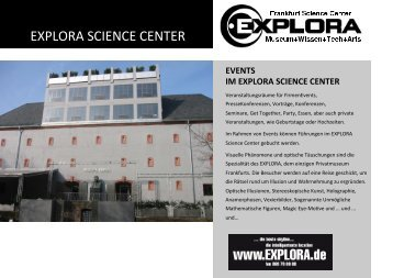 EXPLORA SCIENCE CENTER