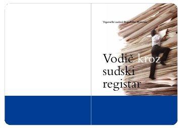 Vodič kroz sudski registar - Visoki trgovački sud Republike Hrvatske