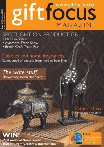 The write stuff - Gift Focus magazine