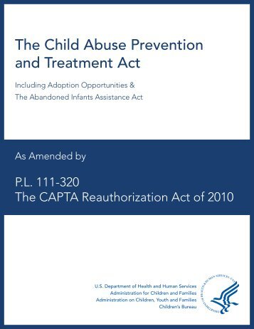 an interpretation of the us child abuse prevention and treatment act