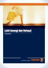 Licht bewegt den Verkauf Licht bewegt den Verkauf. - Osram