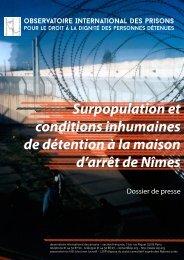 conditions inhumaines de détention à la maison d'arrêt de Nîmes