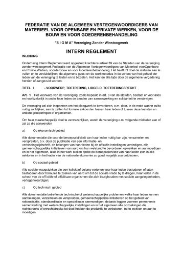 INTERN REGLEMENT