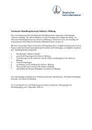 Nationales Handlungskonzept Inklusive Bildung - Eine Schule für Alle