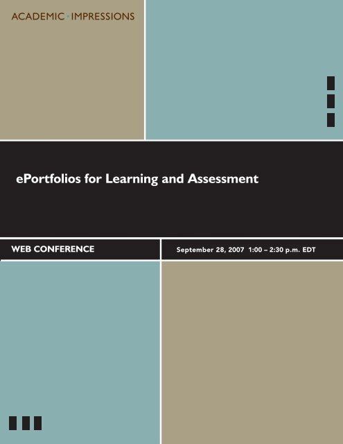 ePortfolios for Learning and Assessment