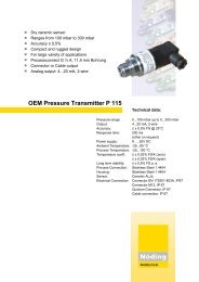 Page 1 Dry ceramic sensor Ranges from 100 mbar to 300 mbar ...