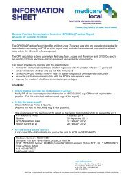 General Practice Immunisation Incentive (GPII020A) Practice Report ...