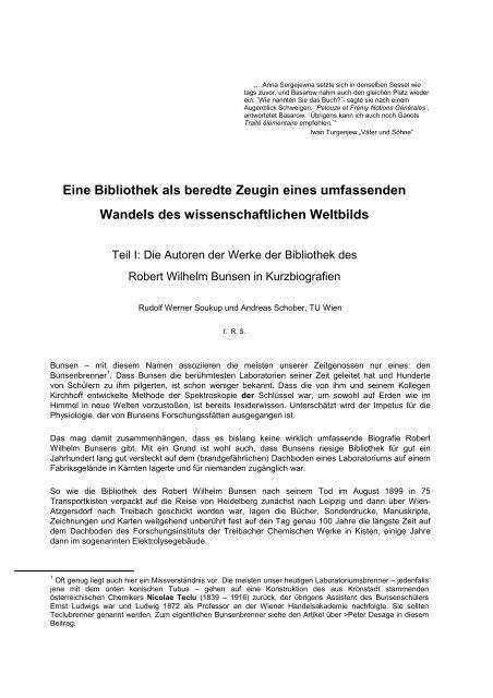 Autoren der Bunsenbibliothek Version 09 - Althofen