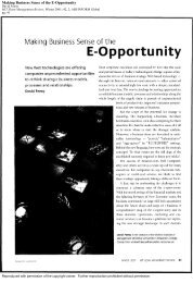 Making Business Sense of the E-Opportunity