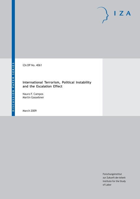 International Terrorism, Political Instability and the ... - Index of - IZA