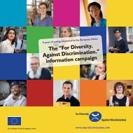 "The ""For Diversity. Against Discrimination."" information campaign"