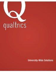 Qualtrics University-Wide Solutions - ICT
