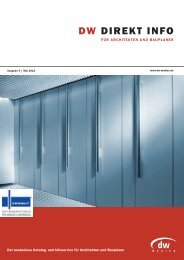 DW DIREKT INFO Architekten - Mai 2012 - DW-Medien