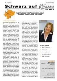 IMPRESSUM In dieser Ausgabe: - MdB Sabine Weiss