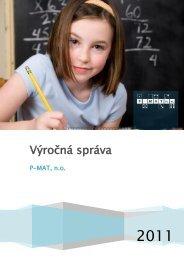 Výročná správa 2011 - P-MAT