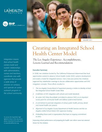 Creating an Integrated School Health Center Model