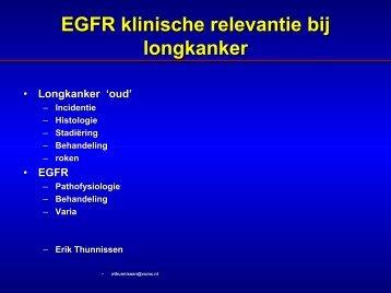 EGFR/k-ras, klinische relevantie bij longcarcinoom - Moleculaire ...