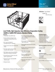 Fan-Air 724 (Down Discharge) Product Catalog - United Metal ...