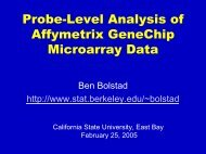 Probe-Level Analysis of Affymetrix GeneChip Microarray Data